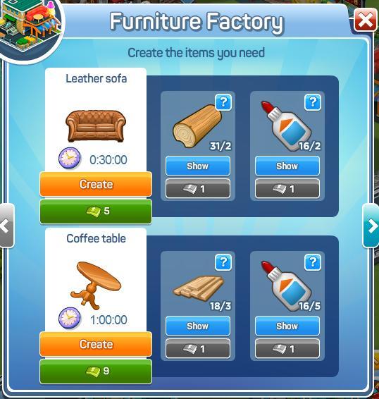 Furniture Factory Menu1