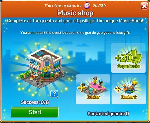 Music Shop Quests