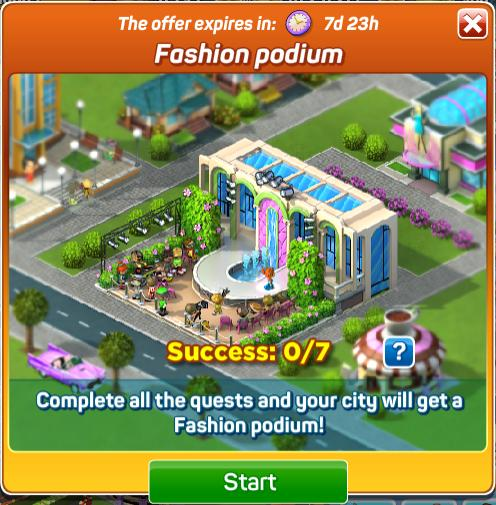 Fashion Podium Start