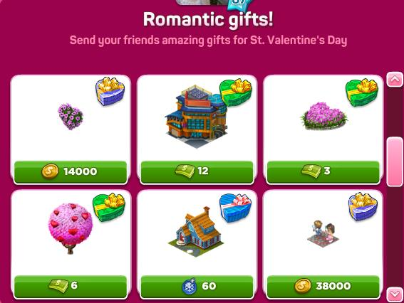 Romantic gifts set 2