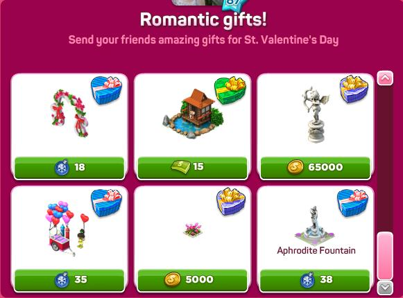 Romantic gifts set 4