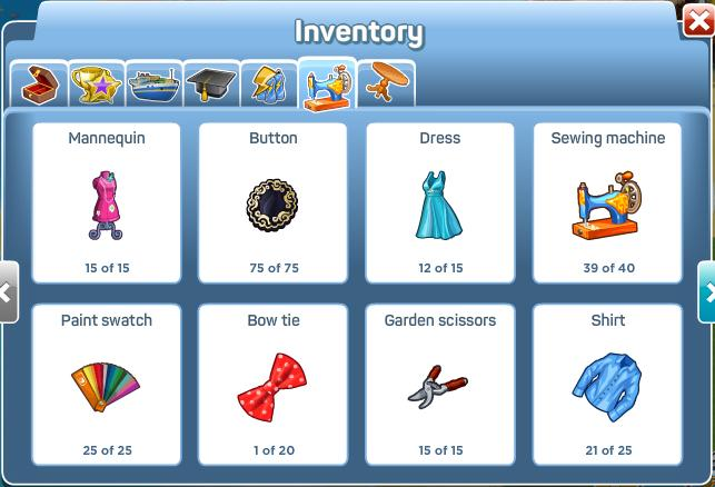 Tailors Workshop Inventory 1