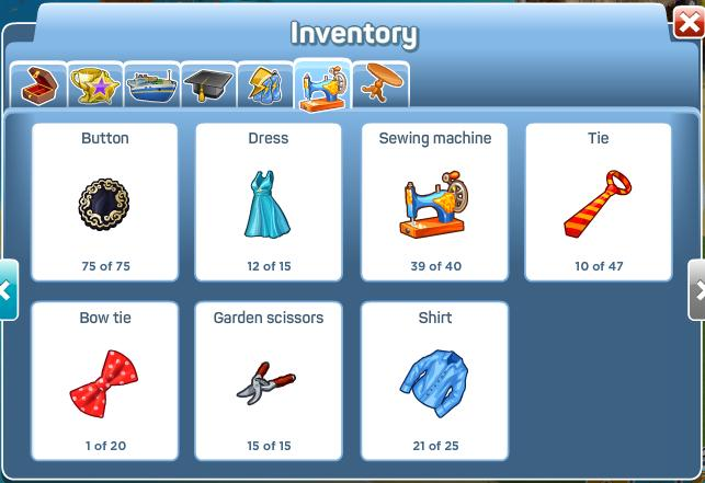 Tailors Workshop Inventory 2