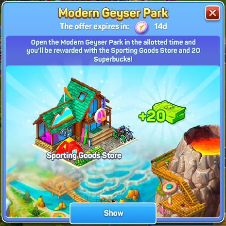 Modern Geyser Park
